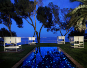 mallorca urlaub hotel melia de mar poolclub nacht